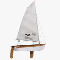 sailboat boat sail 3ds