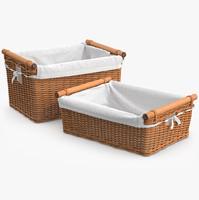 3d wicker laundry basket rattan