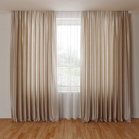 curtain 3d obj