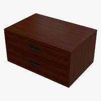 3d storage box dae model