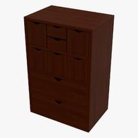3d model cabinet dae box