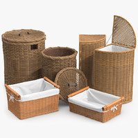fbx wicker laundry basket rattan
