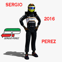 3d sergio perez 2016