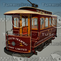 3d dunedin historic tram model