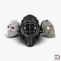 hockey masks 2 3d c4d