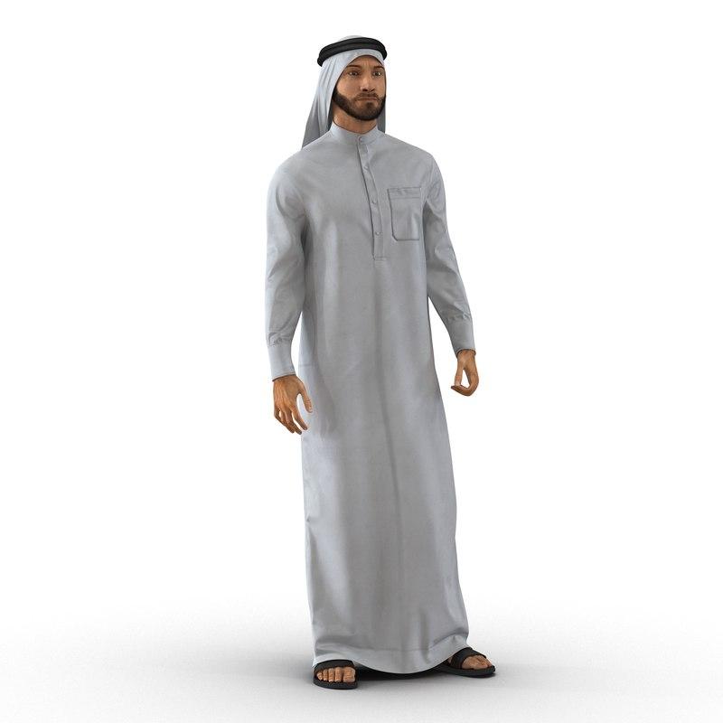 Arab Man Rigged 3d model 02.jpg