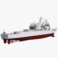 ticonderoga class cruiser vicksburg 3d 3ds