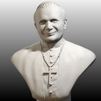 3d sculpture john paul great