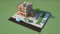 cityscape home 3d obj