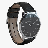 3ds luxury silver black watch