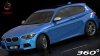 3d bmw 135i coupe 2015 model