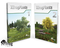3d xfrogplants plant flowers model