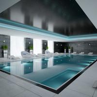 3d scene pool interior model
