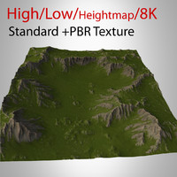 3d model mountain landscape