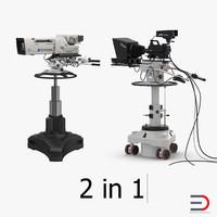 3d model tv studio cameras