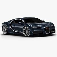 3d 2017 bugatti chiron interior model