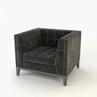 3d armchair aldgate eichholtz model