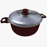 3d model casserole pan