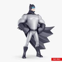 3d model cartoon super hero