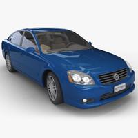 3d model realistic sedan car -
