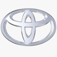 3d model of toyota logo