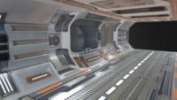 3d model sci-fi toonel
