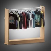 T-shirts and shirts on hangers