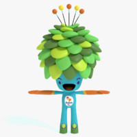 3d 2016 olympic tree mascot