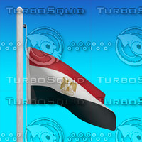 flag egypt - loop 3d max