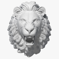 3d model of lion head sculpture