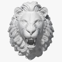 3d model of lion head sculpture