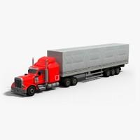 18 semi truck 3d max