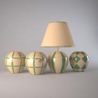 le porcellane lamp vases 3d obj