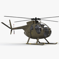 light helicopter hughes oh 3d 3ds