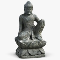 3d sculpture buddha monk 3 model