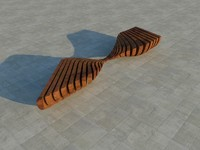 bench elements design 3d 3ds