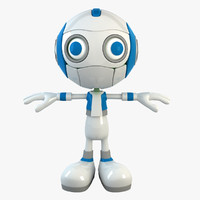 3d model robot character bot