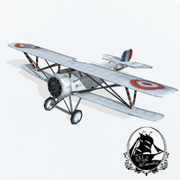 3d nieuport 17 fighter
