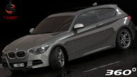 3d bmw 135i coupe 2015