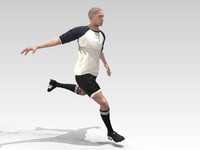 3d model footballer rigged