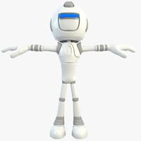 robot character bot 3d model
