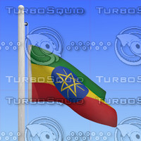 flag ethiopia - loop 3d model