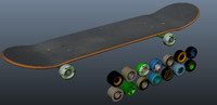 skateboard wheels 3d model