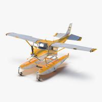cessna 182 skylane floats 3d max
