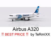 airbus a320 egyptair 3d model