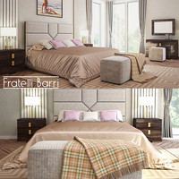 3d model bed fratelli barri