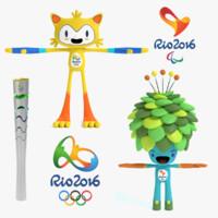 2016 rio olympics 3d max