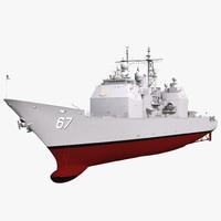3d ticonderoga class cruiser shiloh model