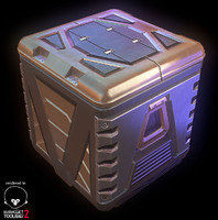 3d model of metal crate
