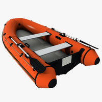 dinghy inflatable boat 3d model